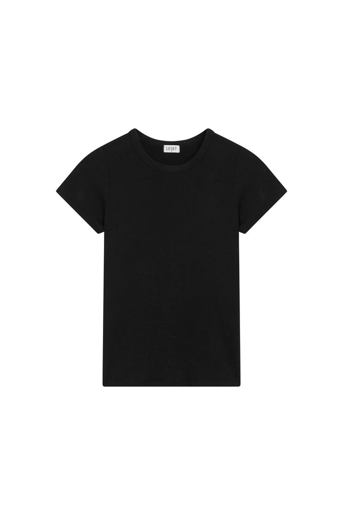 Lori Slim Fit Tee - Black