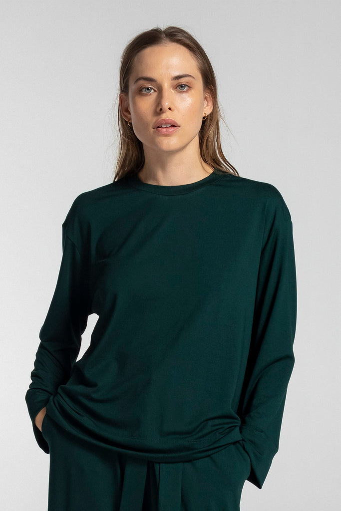 Dylan Oversized Crewneck - Forest