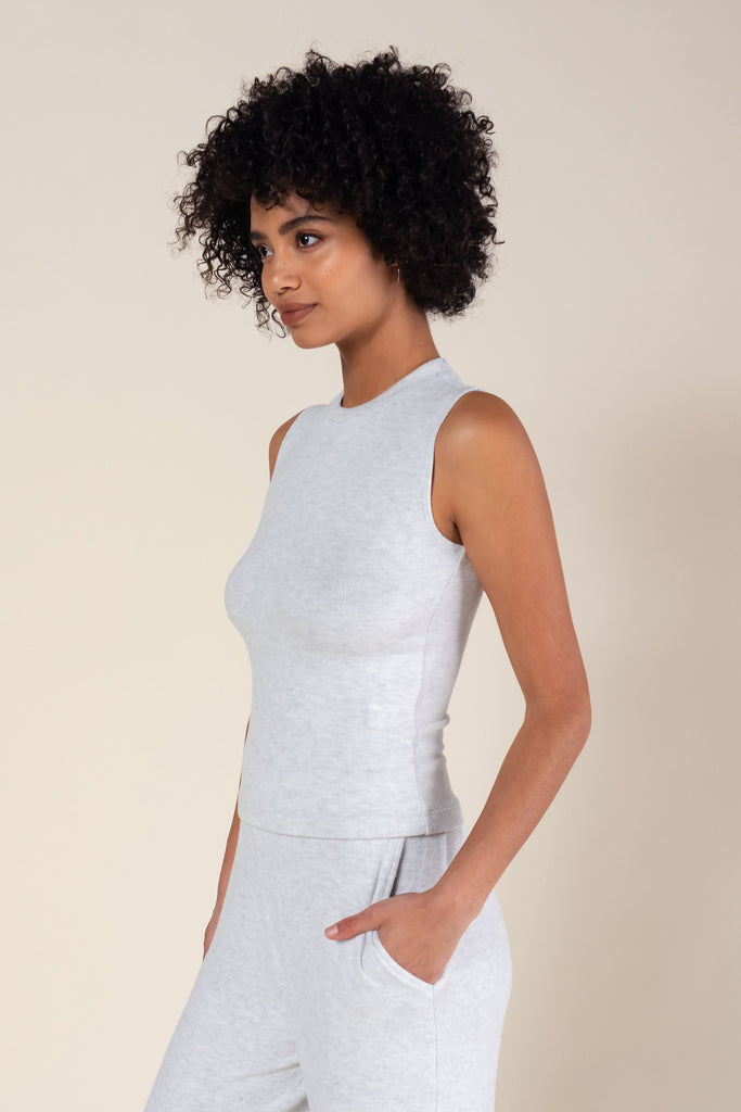 Lori Sleeveless Crewneck - Cloud