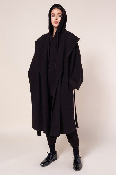 Bella Shawl Collar Coat - Coffee