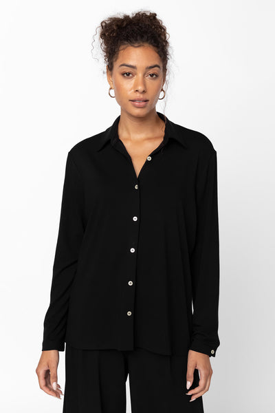 Dylan Fitted Button Down - Black