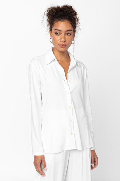 Dylan Fitted Button Down - White
