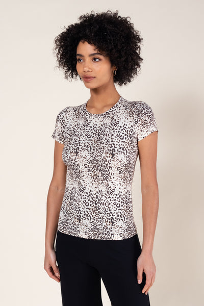 Jamie Cheetah Slim Fit T-Shirt - Black