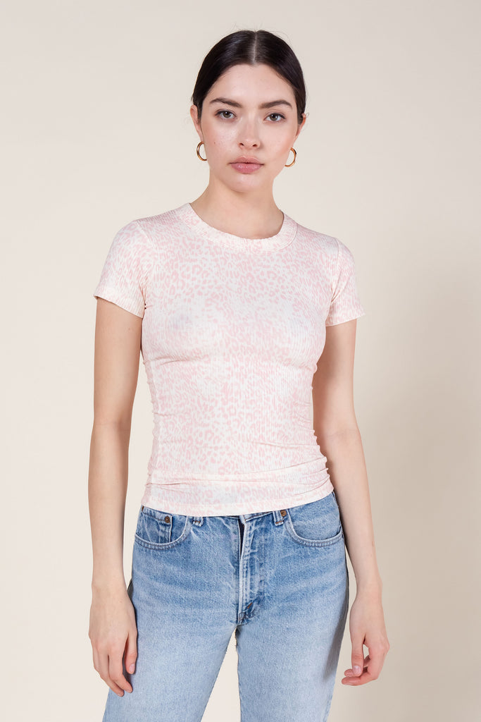 Jamie Cheetah Slim Fit T-Shirt - Blush