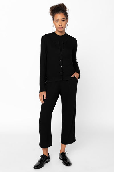 Lori Crop Straight Leg Pant - Black