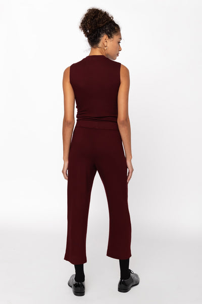 Lori Sleeveless Crewneck - Bordeaux