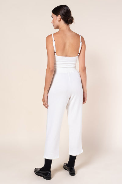 Lori Crop Straight Leg Pant - White