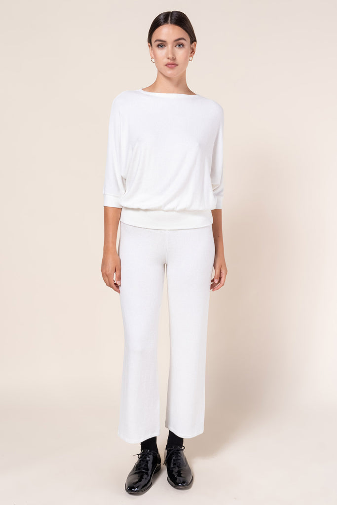 Lori Burnout Pant - White
