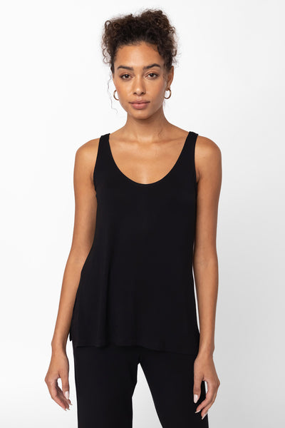 Nora Scoop Neck Tank - Black