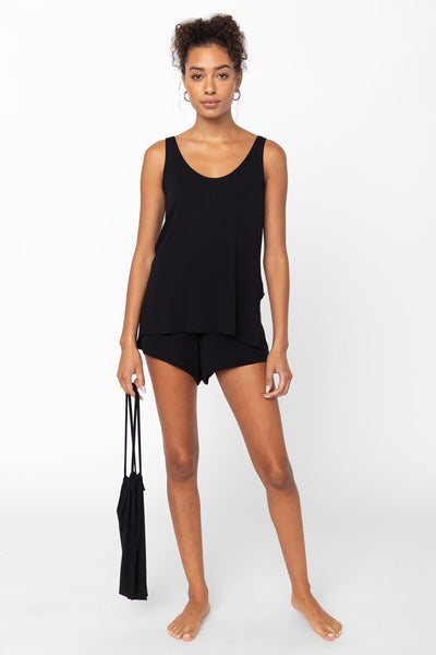 Nora Tank & Short Set - Black