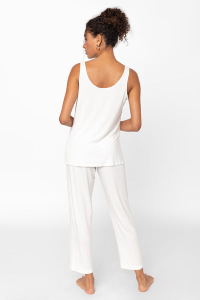 Nora Tank & Pant Set - White