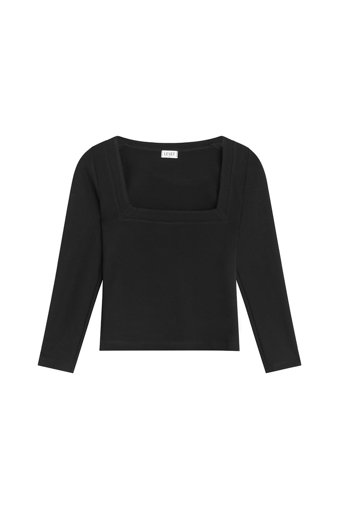Rio Long Sleeve Square Neck - Black