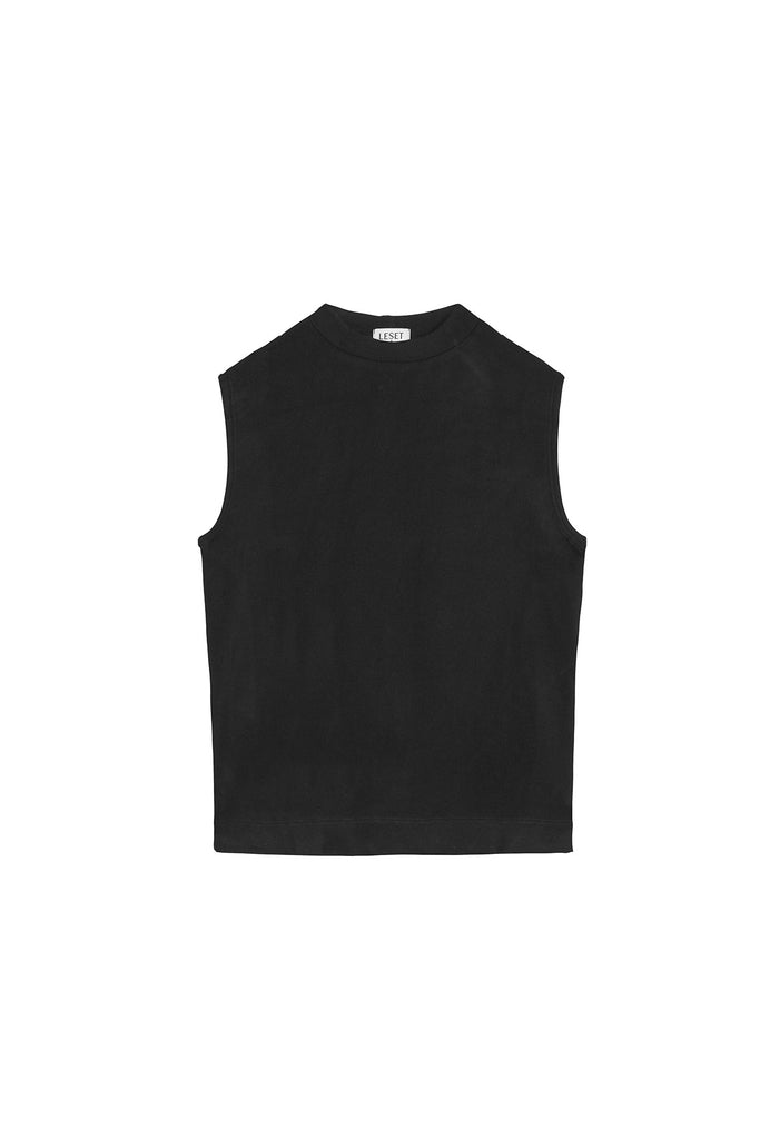 Lori Sleeveless Crewneck - Black