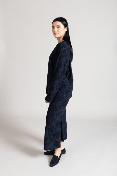 Fiona Burnout Pant - Navy