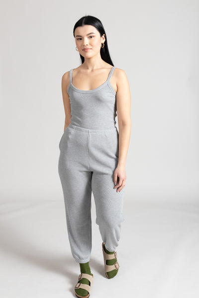 Willow Waffle Jogger Pant - Light Heather Grey