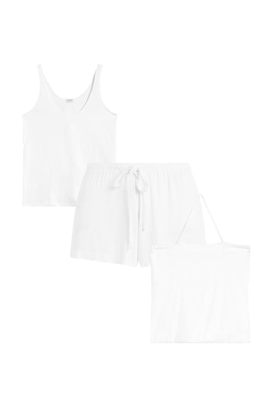 Nora Nuit Tank & Short Set - White