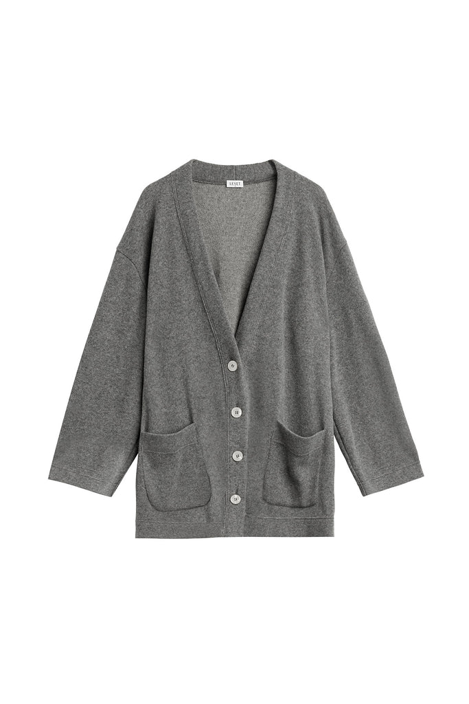 PRE-ORDER - Sienna Oversized V Cardigan - Heather Grey
