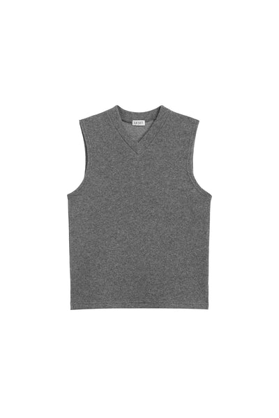 PRE-ORDER - Sienna Sleeveless V Neck - Heather Grey