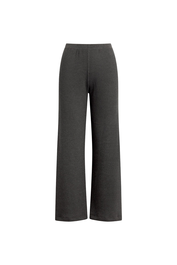 Willow Waffle Burnout Pant - Charcoal