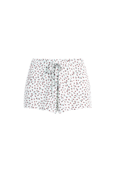 Nora Mini Rose Drawstring Short - Bordeaux