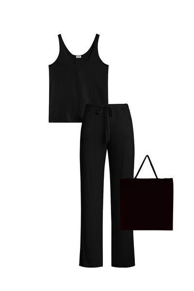 Nora Tank & Pant Set - Black