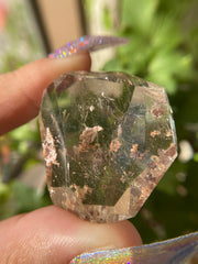 High Grade Freeform Rutilated Quartz with Lodalite