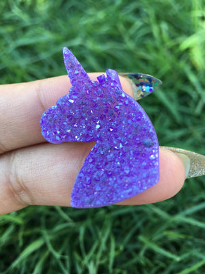 Purple Aura Druzzy Unicorn