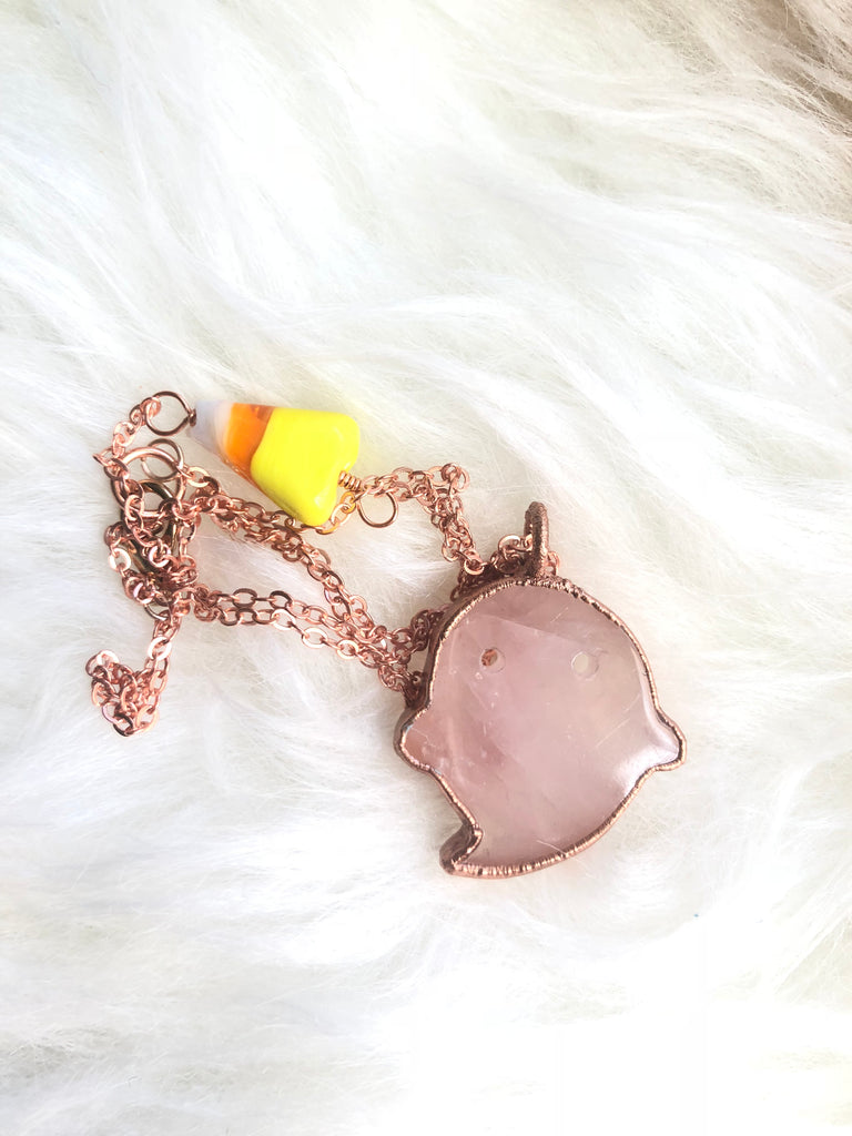 Little Rose Quartz Boo Necklace