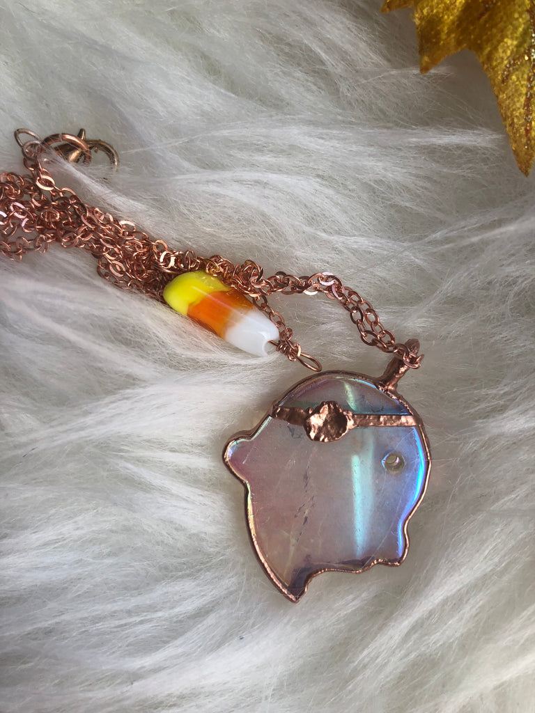 Angel Aura Pirate Quartz Boo Necklace