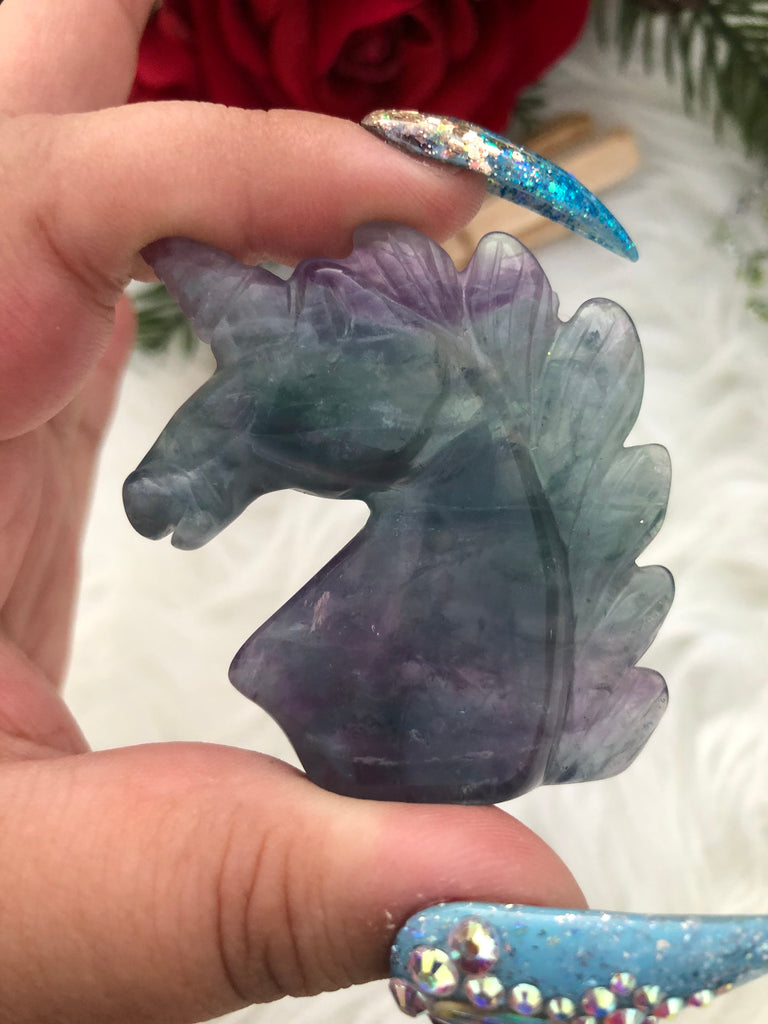 Hand Carved Fluorite Unicorn