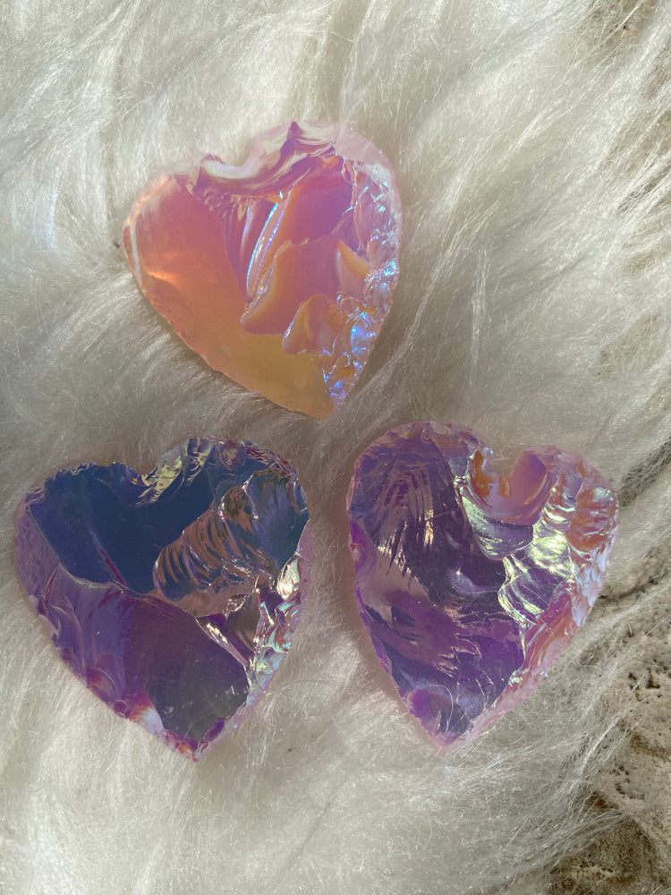 Load image into Gallery viewer, Angel Aura Pink Opalite Heart (1)