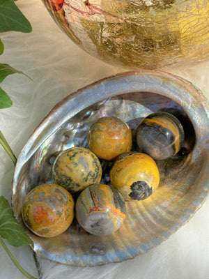 Load image into Gallery viewer, Bumble Bee Jasper Sphere (1)
