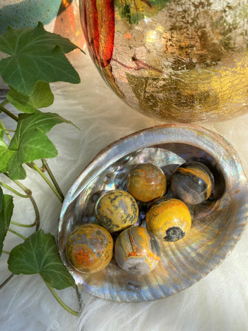 Bumble Bee Jasper Sphere (1)