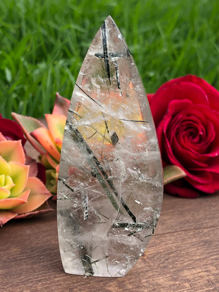 Load image into Gallery viewer, Quartz with Tourmaline - Blade