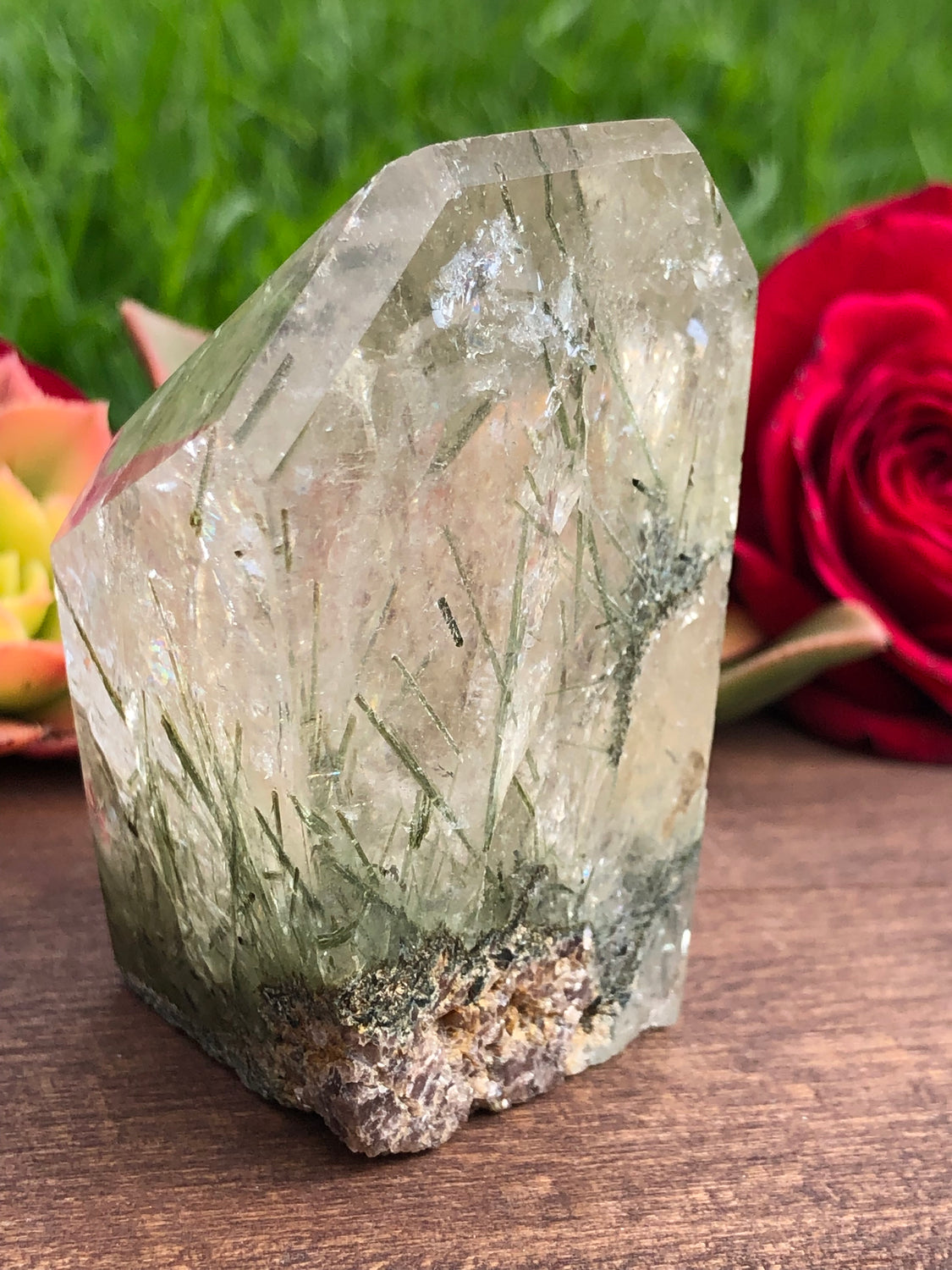 Ruby Rose Aura Quartz Cluster