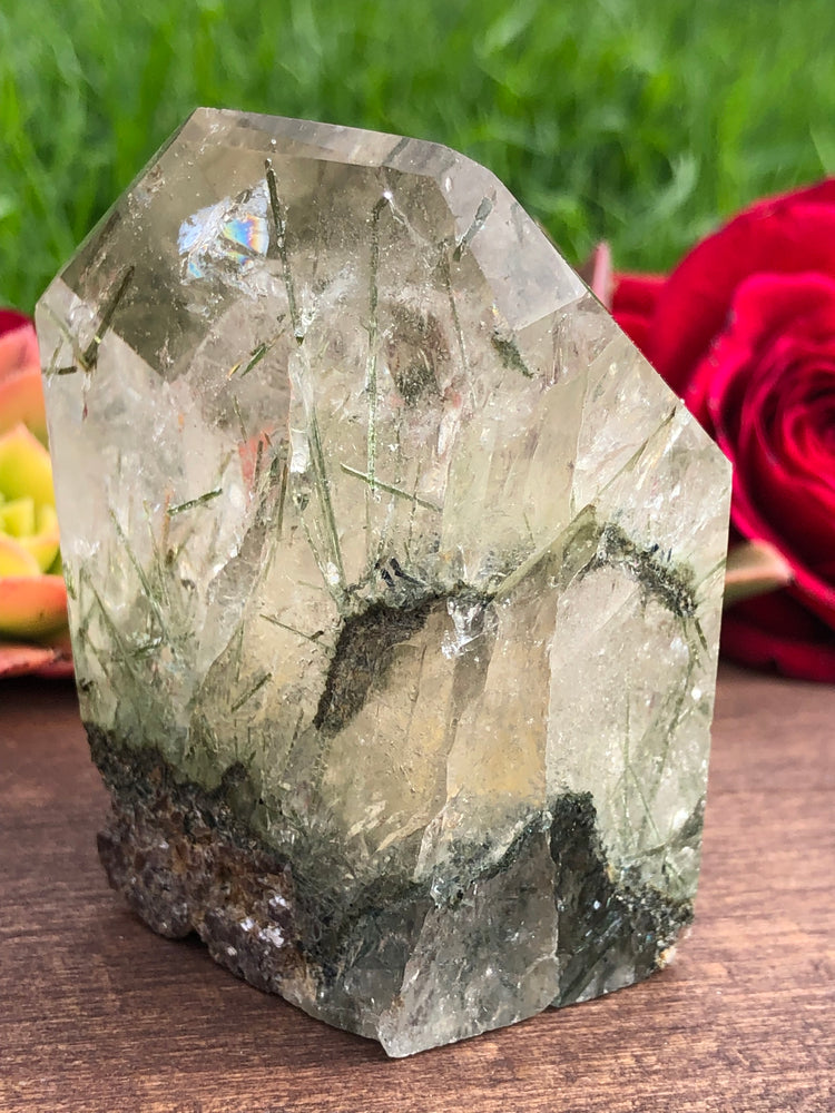 Quartz with Green Epidote