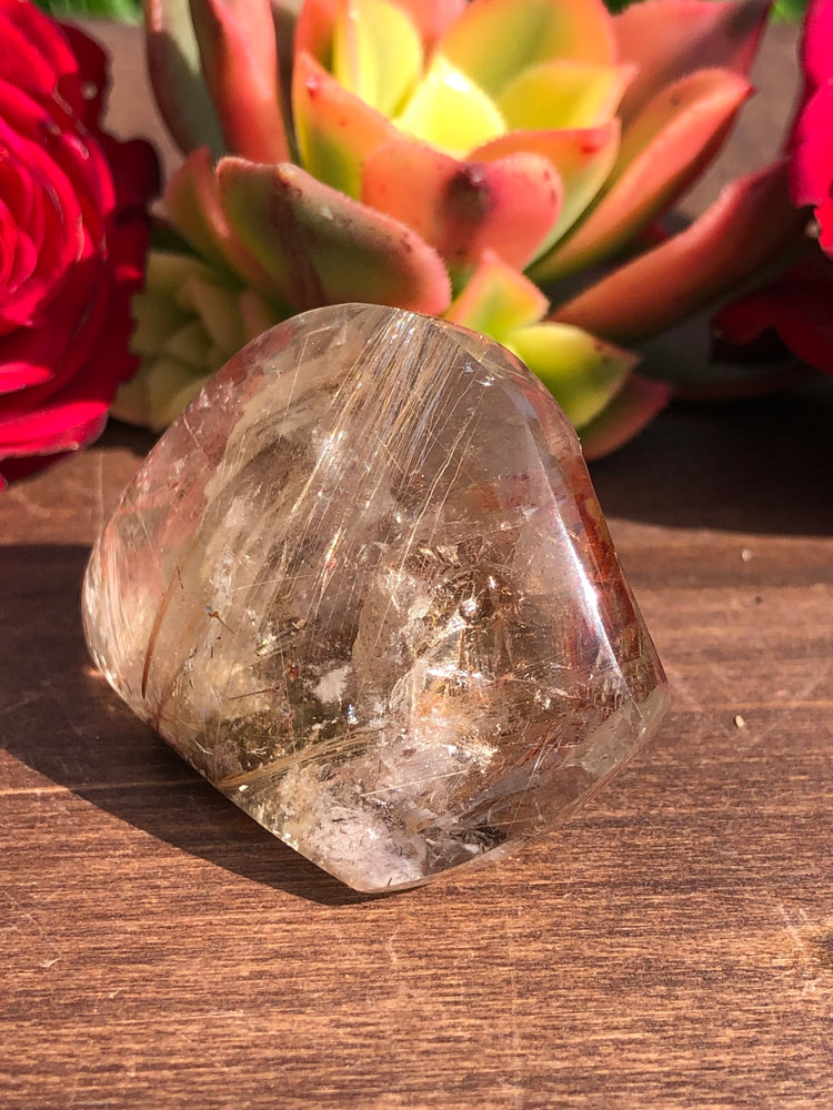 Golden Rutilated Quartz with Manifestation