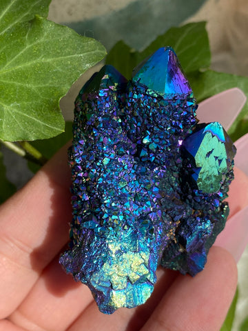 Galaxy Aura Spirit Quartz Cluster