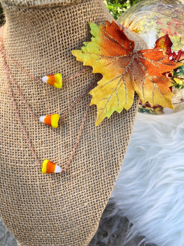 Candy Corn Necklace (1)