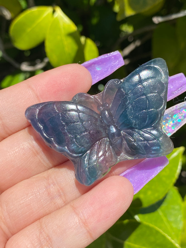 Load image into Gallery viewer, Rainbow Fluorite Butterfly