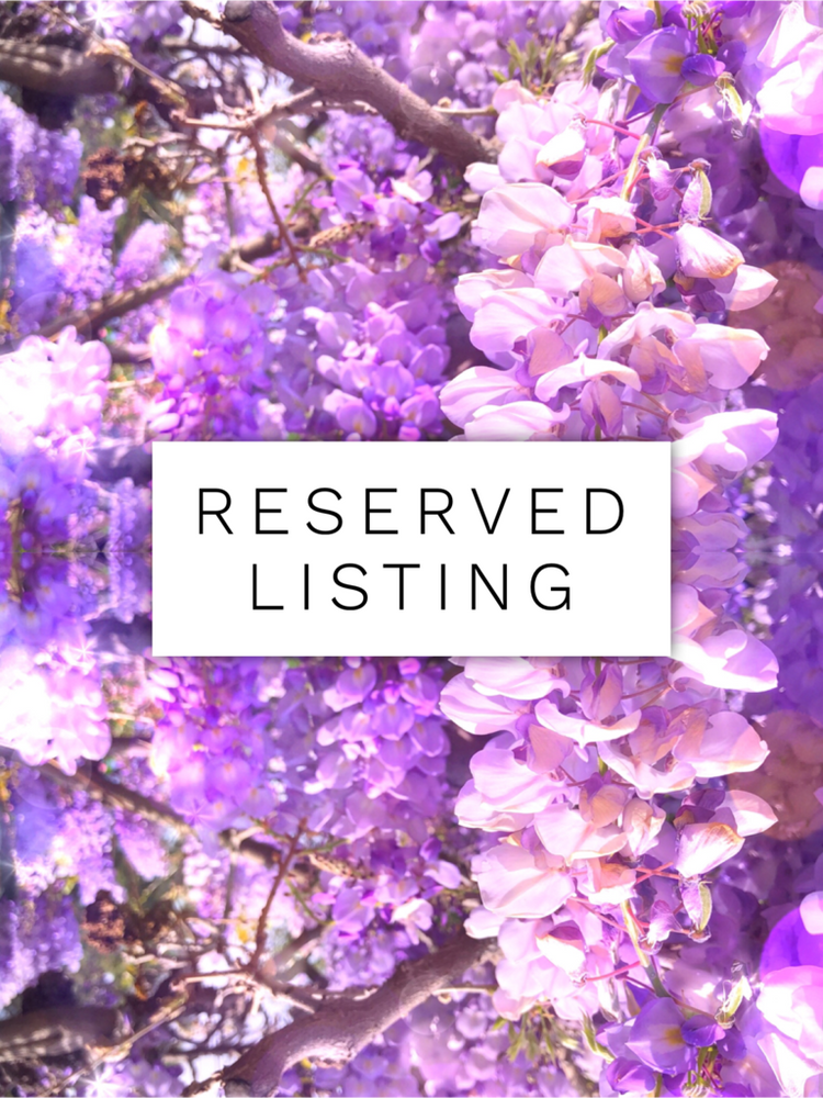 RESERVED LISTING - teawitch