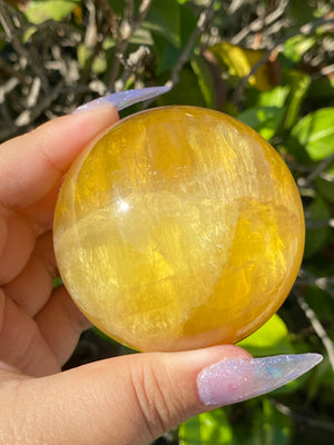 Yellow Fluorite Sphere