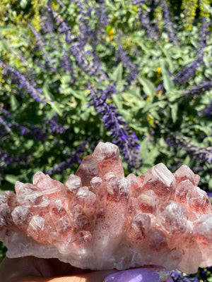 Load image into Gallery viewer, Large Red Hematite Quartz Cluster
