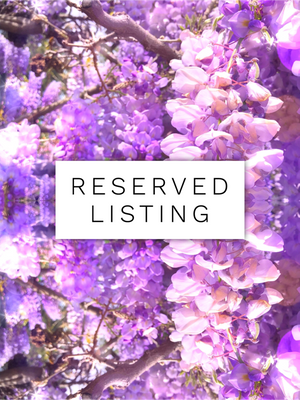 RESERVED LISTING - artsy.lizzy