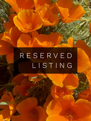 RESERVED LISTING - sparrowling