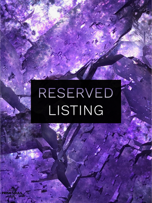 RESERVED LISTING - gothsteps