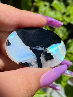 Moonstone with Tourmaline Cab