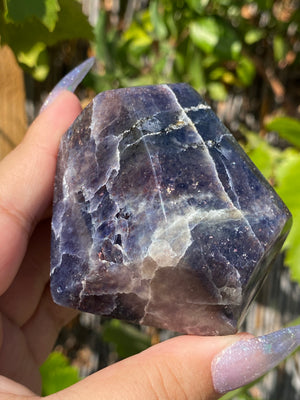 Iolite with Sunstone Freeform