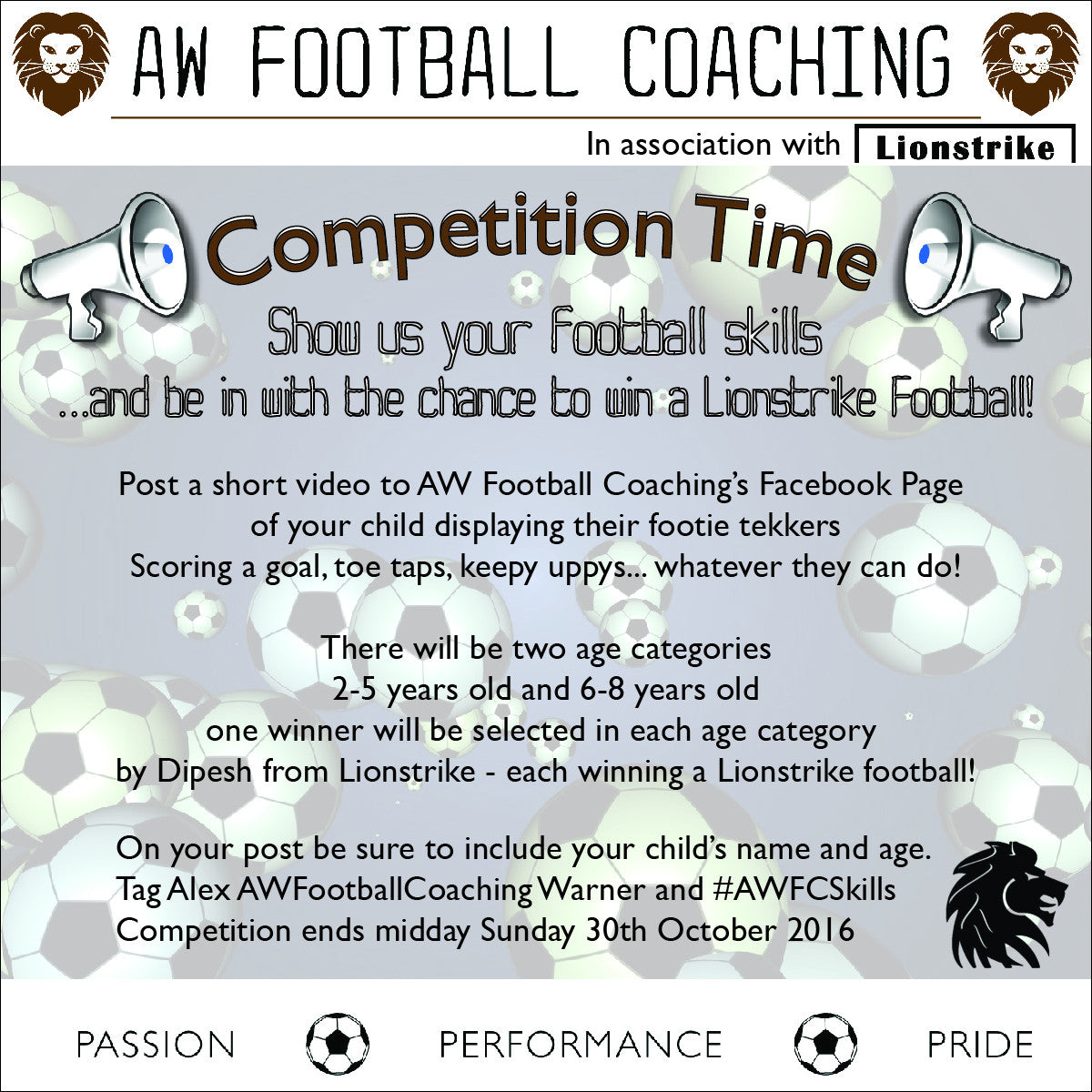 Win a Lionstrike Football with AW Football Coaching Competition!