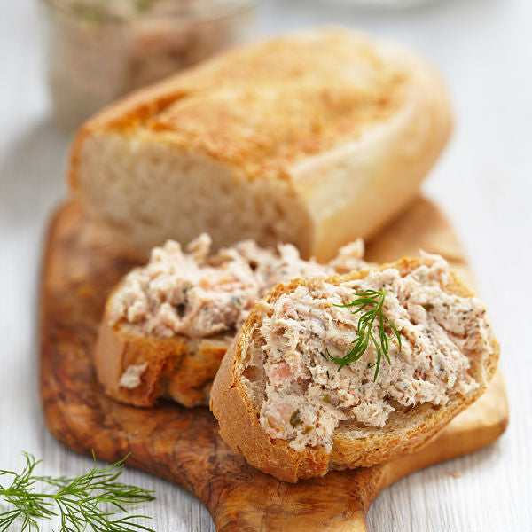 Smoked Fish Dip on Bread
